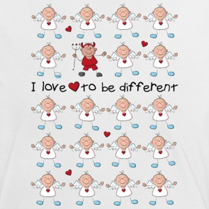 I love to be different - angel and devil T-shirts - Vrouwen contrastshirt