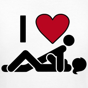 I LOVE SEX T-shirts - Dame-T-shirt