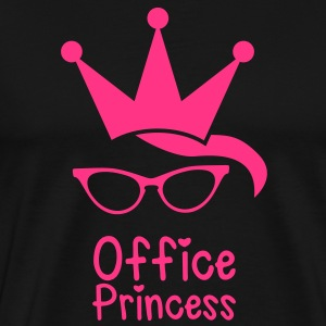 office princess with cat eyes glasses and a crown T-Shirts - Men's Premium T-Shirt
