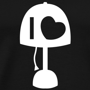 I LOVE LAMP with light and cord simple no words T-Shirts - Men's Premium T-Shirt