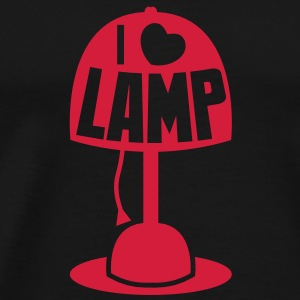 I LOVE LAMP with light and cord T-Shirts - Men's Premium T-Shirt