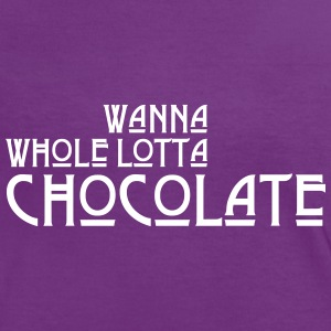 Wanna Whole Lotta Chocolate T-Shirts - Frauen Kontrast-T-Shirt