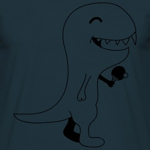 Funny Table Tennis Dino T-Shirts - Männer T-Shirt