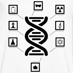 It's in my DNA - Herre T-shirt med V-udskæring