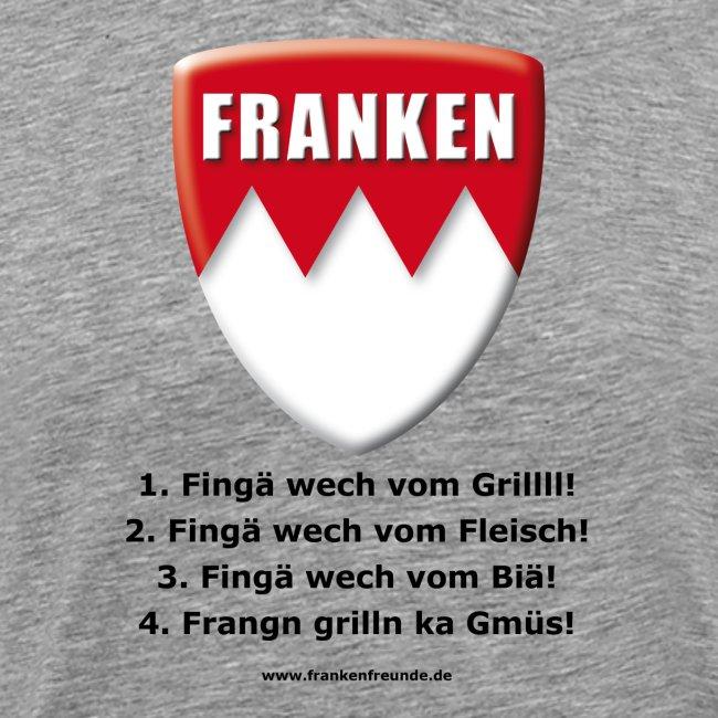 Grilln in Frangn in grau