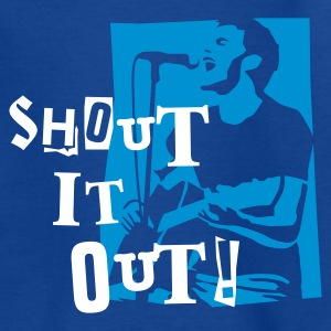 shout_it_out_white T-shirts - Teenager-T-shirt