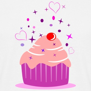 Sweet cupcake muffin cake with heart T-Shirts - Men's T-Shirt