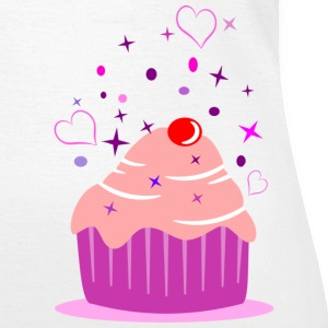 Sweet cupcake muffin cake with heart T-Shirts - Women's T-Shirt