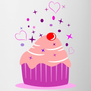 Sweet cupcake muffin cake with heart Bottles & Mugs - Mug