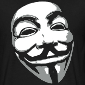 Anonymous Mask T-shirts - Herre-T-shirt