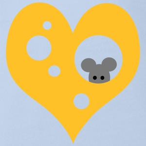 Cheese and mouse Shirts - Organic Short-sleeved Baby Bodysuit