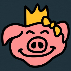 Pricess Pig Head Camisetas - Camiseta hombre