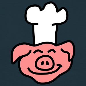 Pig Chef Head T-Shirts - Men's T-Shirt