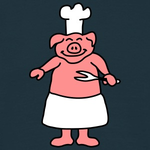 Pig Chef T-skjorter - T-skjorte for menn