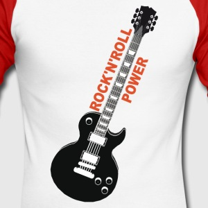rock'n'roll_ guitar 2 Long sleeve shirts - Men's Long Sleeve Baseball T-Shirt