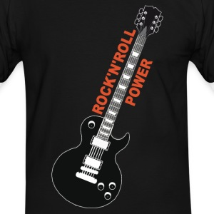 rock'n'roll_ guitar 2 Tee shirts - T-shirt contraste Homme