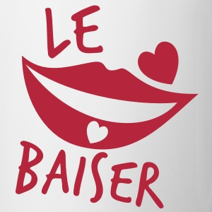 le baiser french for the kiss Bottles & Mugs - Mug