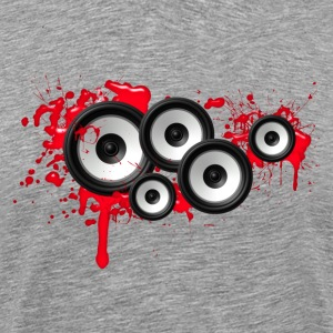 Music in the blood, speakers, sound system, audio T-shirts - Mannen Premium T-shirt
