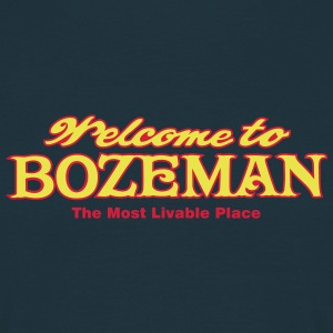 Bozeman - The most livable place - Männer T-Shirt