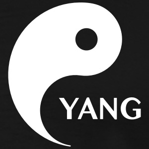 Yang looking for Yin, Part 2, tao, dualities T-shirts - Mannen Premium T-shirt