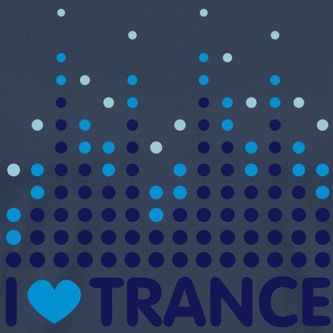 I love Trance T-Shirt weiß/blau