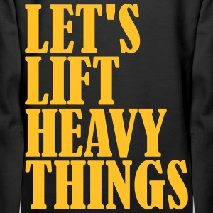 Lets Lift Heavy Things Bluzy - Bluza damska Premium z kapturem