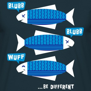 Be Different - Fische - Blubb - Be yourself - 3C T-Shirts - Männer T-Shirt