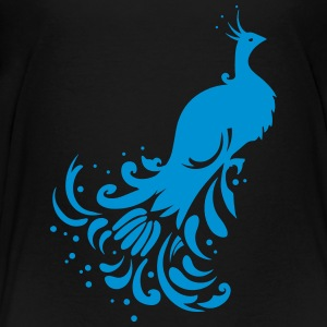 A stylized peacock Shirts - Teenage Premium T-Shirt