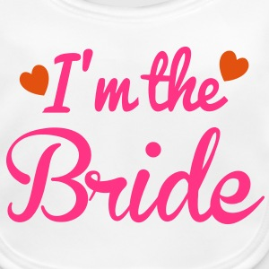 I'm the BRIDE cute little hearts Accessories - Baby Organic Bib