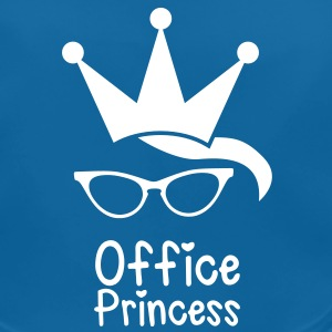 office princess with cat eyes glasses and a crown Accessories - Baby Organic Bib