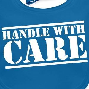 handle with care box sign in stencil Accessories - Baby Organic Bib