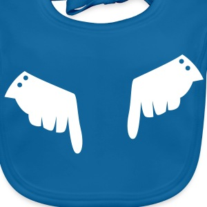 two fancy gloved hands pointing down Accessories - Baby Organic Bib