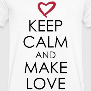 keep calm and make love T-Shirts - Männer T-Shirt mit V-Ausschnitt