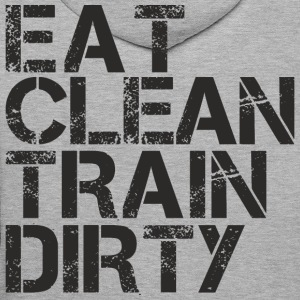 eat clean train dirty.png Hoodies & Sweatshirts - Men's Premium Hoodie