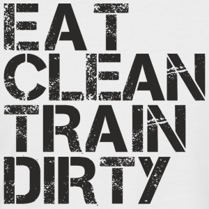 eat clean train dirty.png T-Shirts - Men's Baseball T-Shirt
