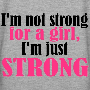 Not Strong for a Girl just Strong Gym and Workout Hoodie - Women's Premium Hoodie