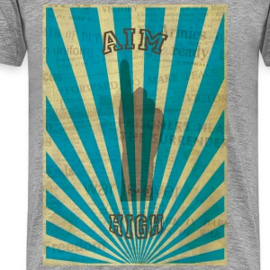 AIM HIGH blue Camisetas - Camiseta premium hombre