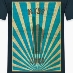 AIM HIGH blue T-shirts