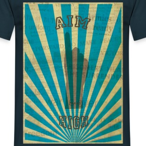 AIM HIGH blue T-shirts - Mannen T-shirt