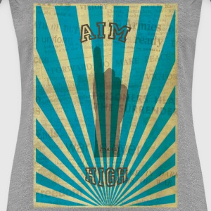 AIM HIGH blue T-shirts - Vrouwen Premium T-shirt