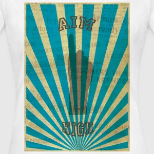 AIM HIGH blue Camisetas - Camiseta mujer