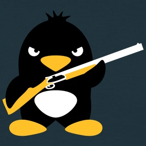Shotgun Penguin T-skjorter - T-skjorte for menn
