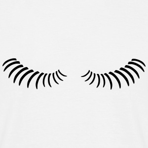 Eye lashes looking down. T-Shirts - Men's T-Shirt