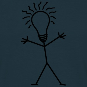 Light Bulb Man T-shirts - Mannen T-shirt