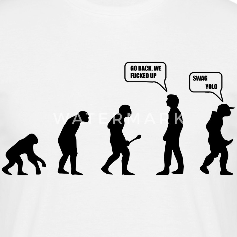 Swag Yolo Evolution T-shirts - Mannen T-shirt