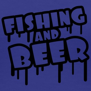 Fishing And Beer Graffiti Camisetas - Camiseta premium mujer