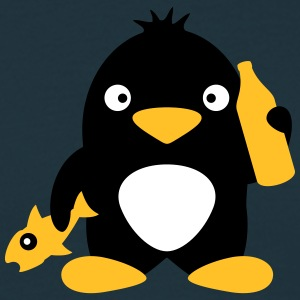 Fish And Beer Penguin T-shirts - T-shirt herr