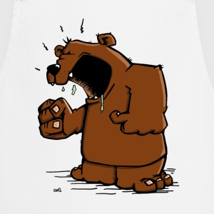 The angry bear has a discussion  Aprons - Cooking Apron
