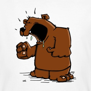 The angry bear has a discussion T-Shirts - Men's Organic T-shirt