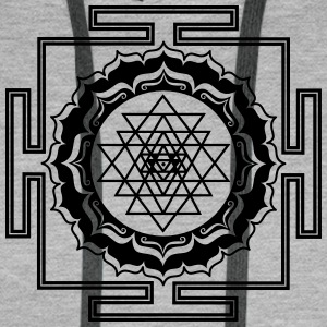 Shri Yantra - Cosmic Energy Conductor Sweat-shirts - Sweat-shirt à capuche Premium pour hommes